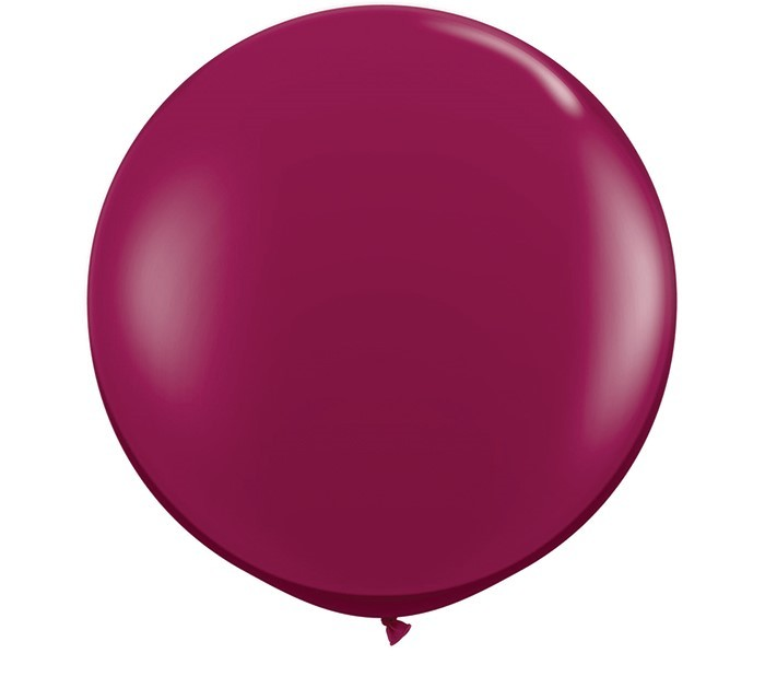 36 Inch Latex Balloon Crystal Burgundy Wine