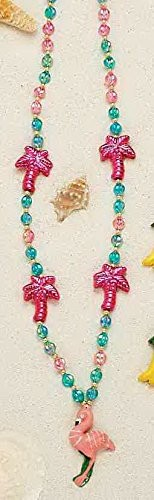 Luau Beads Palm Tree with Flamingo