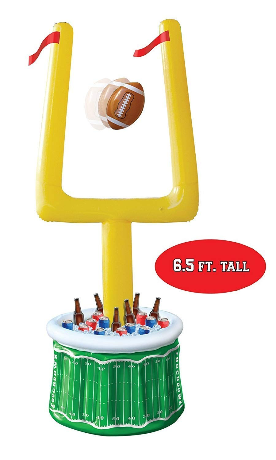Inflatable Goal Post Cooler, 2.5ft with Football (1 Count) (Pkg/1)