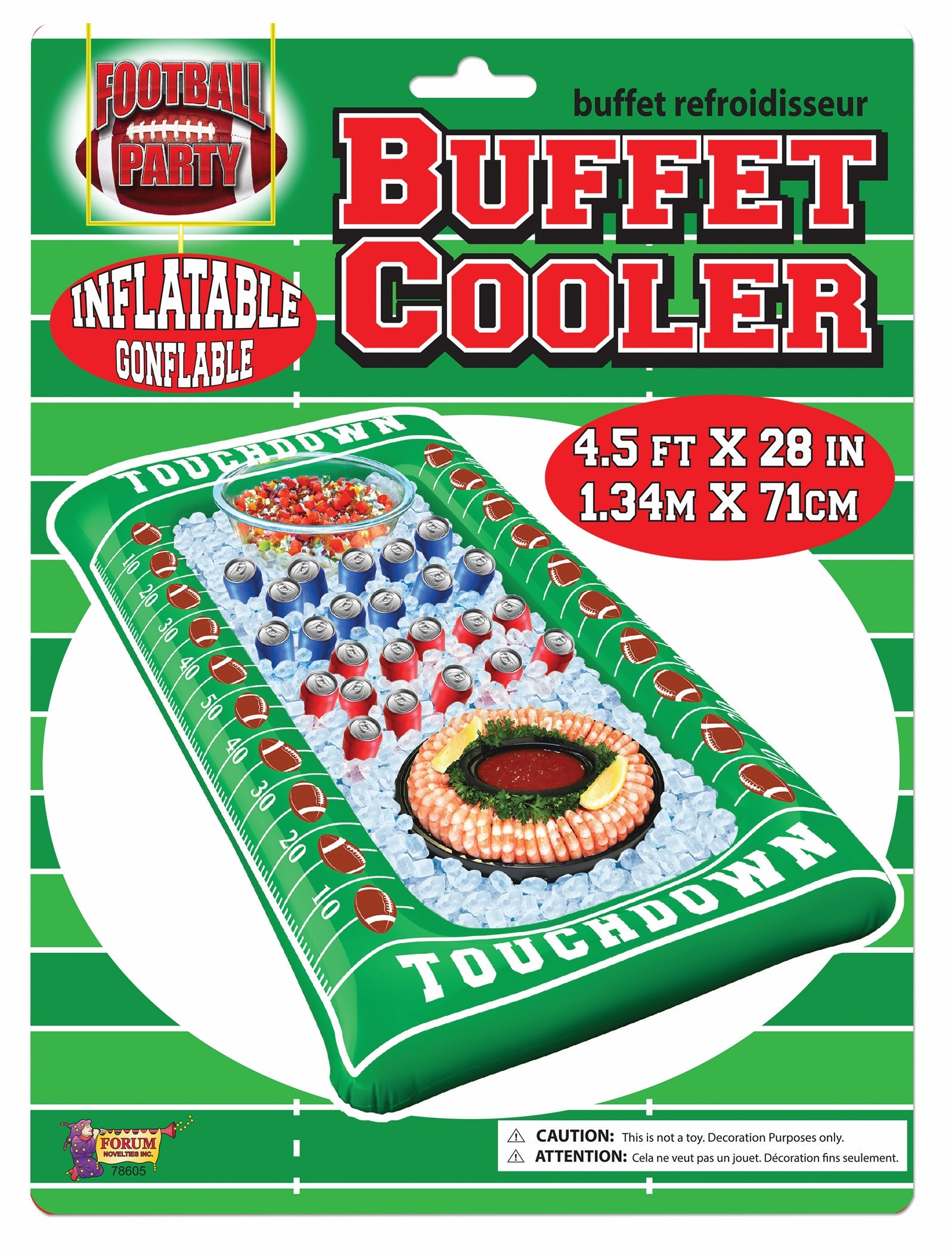 Game Day Inflatable Football Buffet Cooler (1 Count) (Pkg/1)