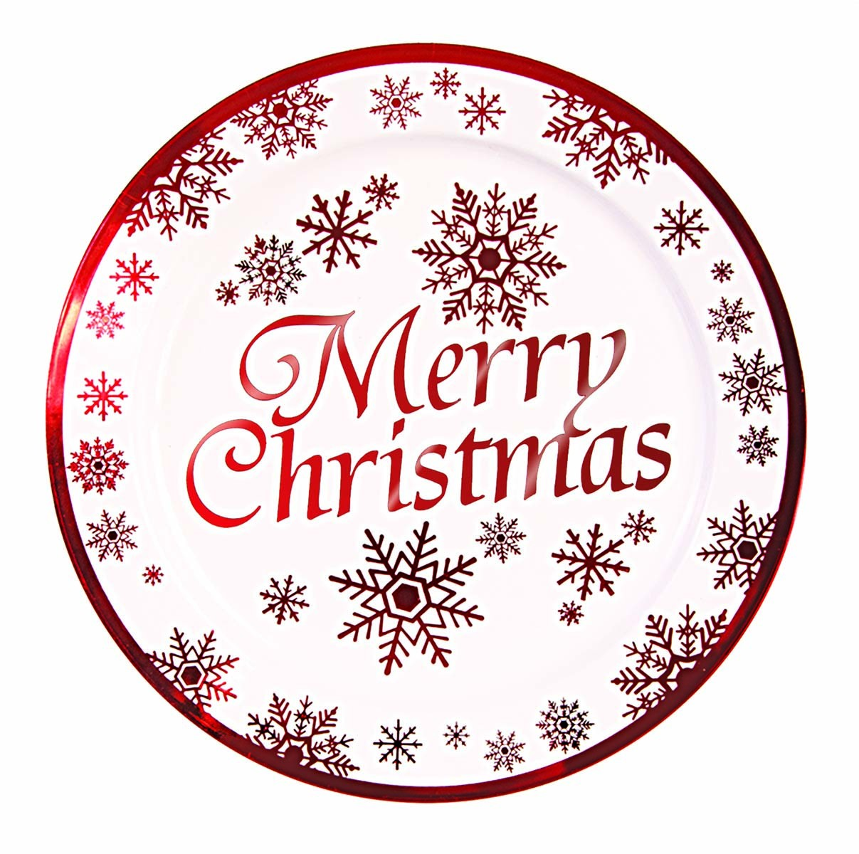"""Merry Christmas"" Large Plastic Plates 10.25"" (10 Count) (Pkg/1)"