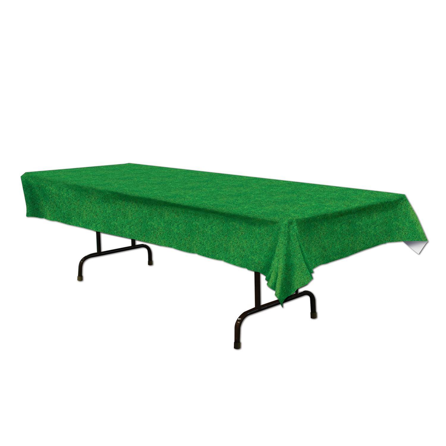 "Grass Table Cover Party Accessory 54"" x 108"" (1 Count) (Pkg/1)"