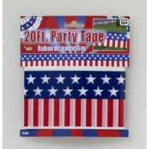 Patriotic Party Tape 20 Ft
