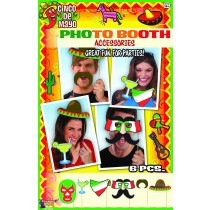 Cinco de Mayo Mexican Themed Photo Booth Prop Set  (1 Count) (Pkg/1)