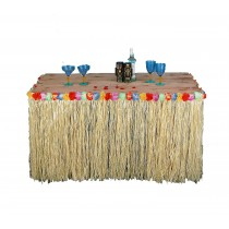 Hawaiian Luau Party Fringed Table Skirt (1 Count) (Pkg/1)