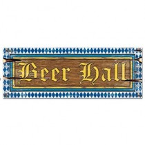 Beer Hall Sign 8in. x 22in.