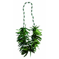Marijuana Beads Green Leaf Necklace Party Accessory  (1 Count) (Pkg/1)