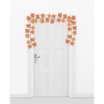 Harvest Orange Leaf Garland (1 Count) (Pkg/1)