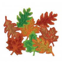 PMU Autumn Foil Leaf Silhouettes 16in.