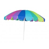 Beach Umbrella 7.5ft Polyester (Multicolored) (1 Count) (Pkg/1)