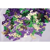 Fanci-Fetti Mardi Gras Masks Confetti (Assorted Gold, Green, Purple)