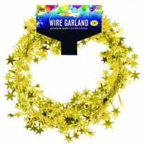Star Wire Garland 25 ft Tinsel (Gold)