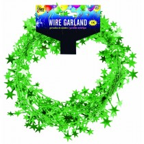 Star Wire Garland 25 ft Tinsel (Green)