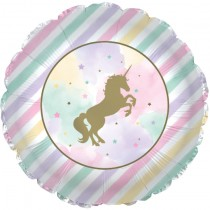Unicorn Sparkle 17in Mylar Balloon (1 Count) (Pkg/1)