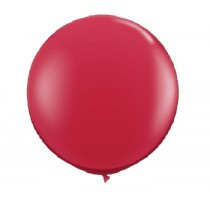 36 Inch Latex Balloon Crystal Red