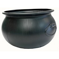 Halloween Cauldron 16 Inch Black Plastic (1 Count) (Pkg/1)