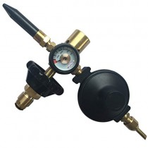 PMU Precision Brass Helium Latex Balloon Air Flow Inflator Regulator 0-3000 PSI With Gauge For G5/8 Tank Valve 300150mm