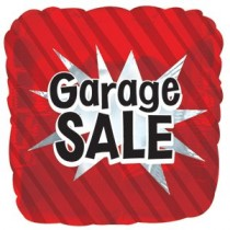 Garage Sale Square Shaped Red Mylar Balloon (Pkg/1)