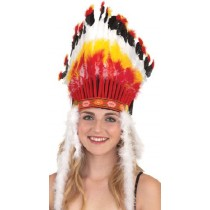 Big Chief Feather Headdress Adult