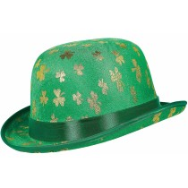 St. Patrick's Day Gold Shamrock Derby Hat Green