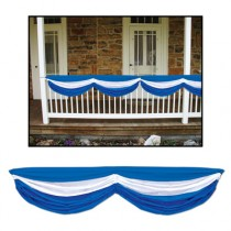 Oktoberfest Fabric Bunting (Blue & White) Party Accessory (1 Count) (1/pkg)