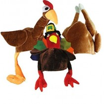 Gobble Gobble Gobble Thanksgiving Hat Assortment (3 Count) (Pkg/1)