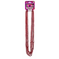 "Bachelorette Beads 33"" Red Metallic (6 Count) (Pkg/1)"