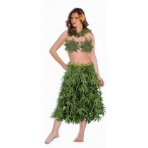 Green Leaf Bra, Lei, Skirt Set (3 Piece)