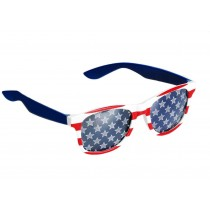 Patriotic American Flag Sunglasses Red, White and Blue (1 Count) (Pkg/1)
