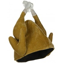 Thanksgiving Plush Roasted Turkey Hat (1 Count) (Pkg/1)