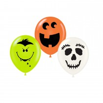 Halloween Balloons Laughing Faces 11 Inch Balloon Assortment