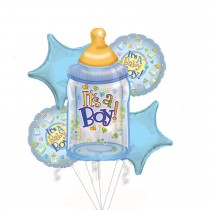 PMU Baby Boy Bouquet of Balloons (5 Per Package) Pkg/1