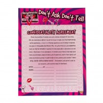 Bachelorette Confidentiality Agreement Party Accessory (1 Count) (Pkg/1)