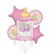 PMU Baby Girl Bouquet of Balloons (5 Per Package) Pkg/1