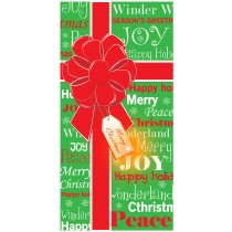 """Christmas Bow Light Up Door Cover 30"""" x 60"""" (1 Count) (Pkg/1)"""