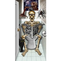 "Halloween Bathroom Door Cover 30""x 60"" (1 Count) (Pkg/1)"