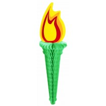 Patriotic Liberty Torch W/ Tissue Flame (1 Count) (Pkg/1)