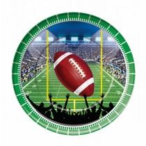 Football Party Plates, 9in. (8 Count) (Pkg/1)