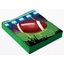 Football Party Napkins, 13x13in (16 Count) (Pkg/1)