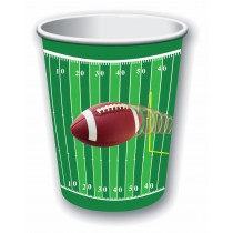 Football Party Cups 9oz, (8 Count) (Pkg/1)