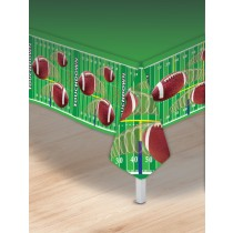 Football Party Tablecover, 54x108in (1 Count) (Pkg/1)