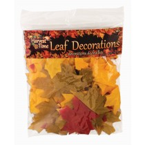 PMU Autumn Leaf Assortment Artificial Fall Leaves Décor Harvest Colored Thanksgivings Table Decoration (40 Count) (Pkg/1)
