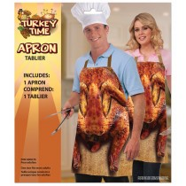 Thanksgiving Roasted Turkey Novelty Apron (1 Count) (Pkg/1)
