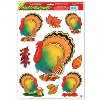 "Thanksgiving Turkey Clings 12"" x 17"" (1 Sheet) (Pkg/1)"