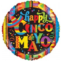 Cinco de Mayo 18 Inch Mylar Balloon (1 Count) (Pkg/1)