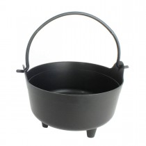"Halloween Dutch Kettle Cauldron Black Plastic 8"" Party Accessory (1 Count) (Pkg/1)"