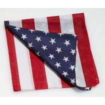 "PMU Patriotic American Flag Bandana Printed Stars and Stripes Poly-Cotton Headband 21""x 21"" (1 Count) (Pkg/1)"