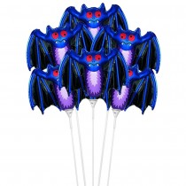 "PMU Halloween Balloons ""Bat"" 11 Inch Pre-Inflated with Stick (1 Count) (Pkg/1)"