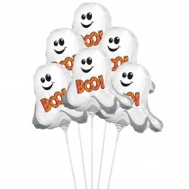 "PMU Halloween Balloons ""Boo Ghostie"" 11 Inch Pre-Inflated with Stick (1 Count) (Pkg/1)"