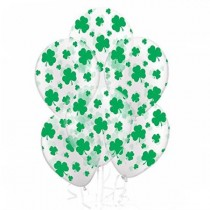 Crystal Clear with Green Shamrocks